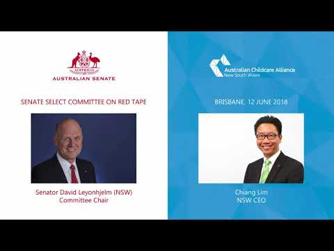 ACA NSW CEO Chiang Lim presenting to the Senate Select Committee Hearing on Red Tape