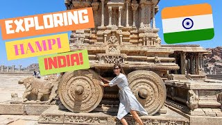 EXPLORING HAMPI, INDIA / TOUR OF ANCIENT RUINS!