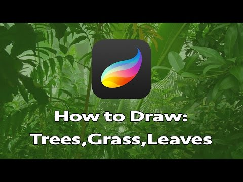 Foliage Tutorial on How to Draw: Leaves, Grass, and Trees!