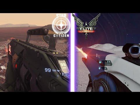 Elite Dangerous Vs Star Citizen #2 (Weapons Comparison) |