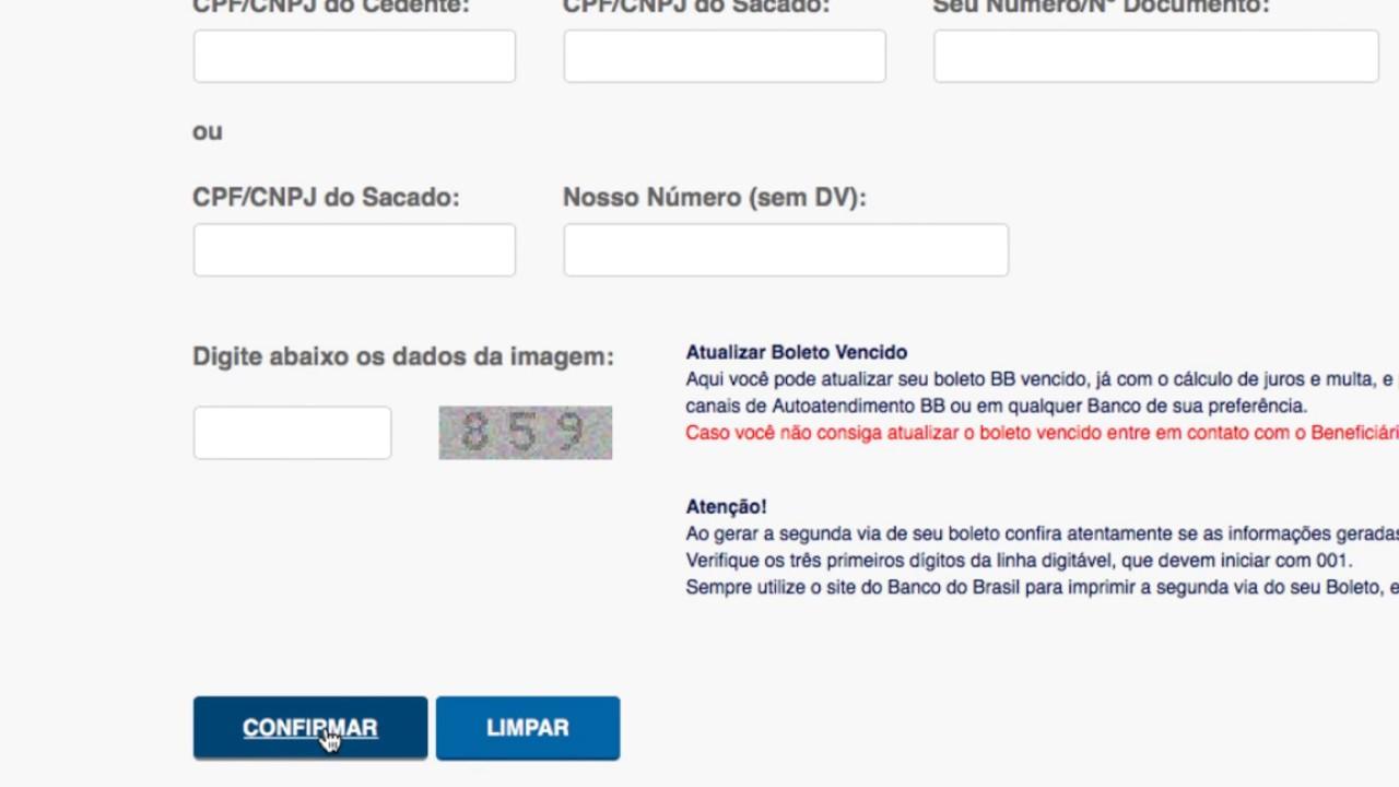 Como Emitir 2ª Via De Boleto No Banco Do Brasil Youtube