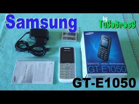 Samsung GT E1050 - Unboxing - Español - Movil Basico - No Smartphone - lowcost