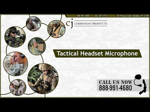 Tactical Headset Microphones From CJ Component Products, LLC