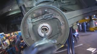 VW T3: Rear wheel bearing removal