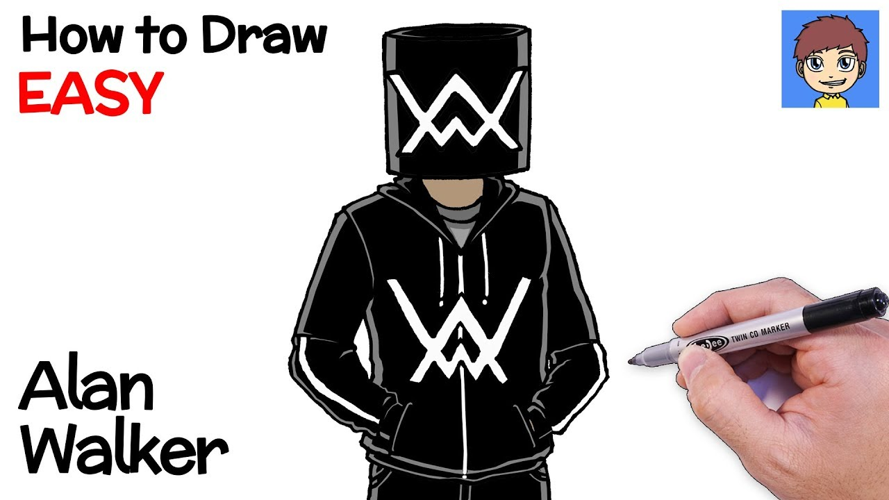 Drawing Alan Walker From Start To Finish Eazy Speed Art By Aymenshady Arts