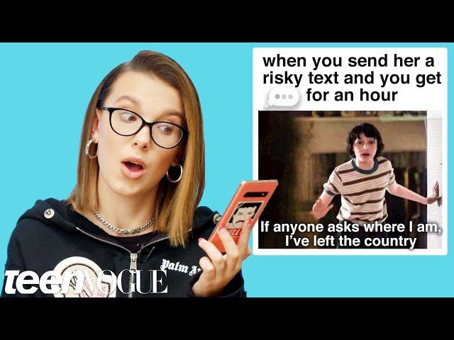 Millie Bobby Brown Reviews Stranger Things and Godzilla Memes | Teen Vogue