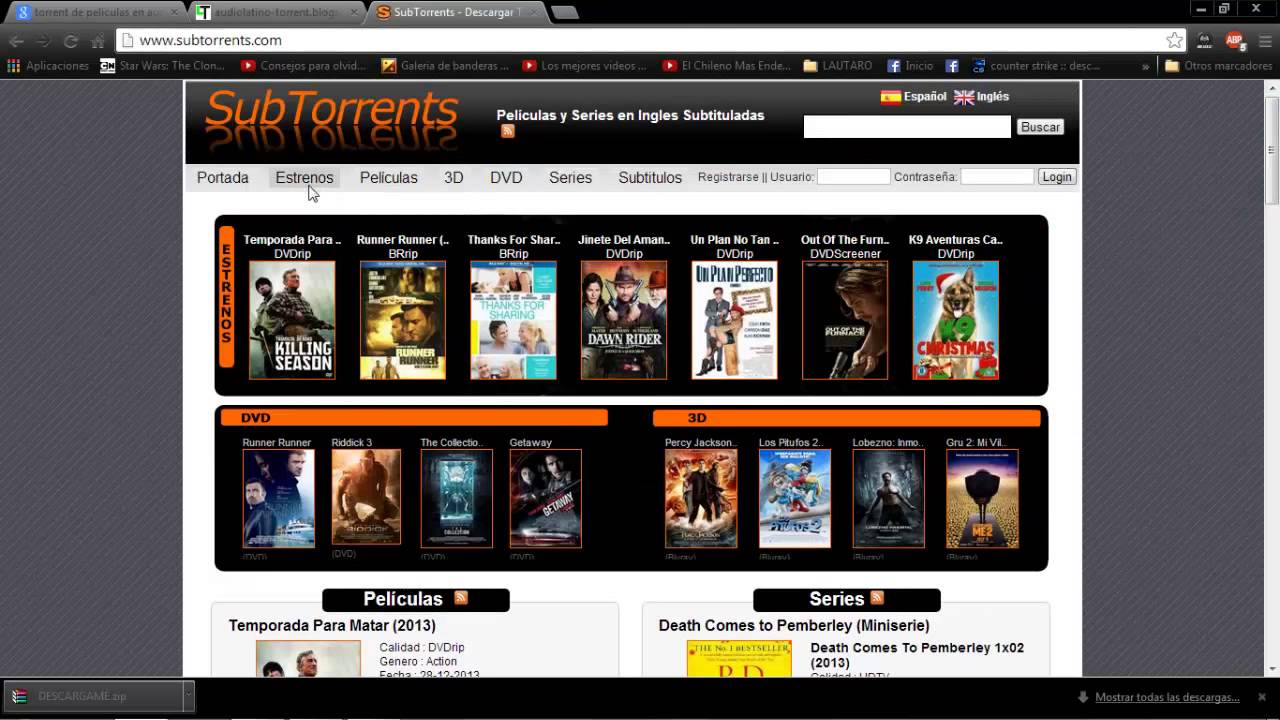 www.subtorrents.com audio latino