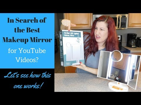 Best Makeup Mirror for YouTube Videos? Tri-fold lighted makeup mirror review.