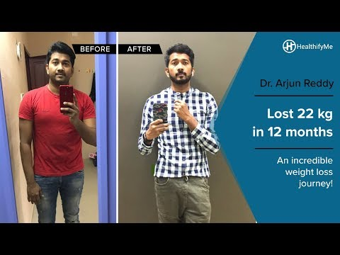 Transformation Stories  | Arjun Reddy's jaw-dropping weight loss journey | HealthifyMe Mp3