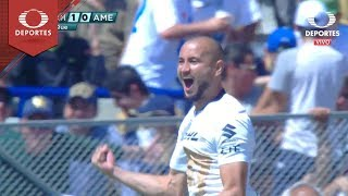 Gol de Carlos González |  Pumas 1 - 0 América | Clausura 2019 - J 7 | Televisa Deportes