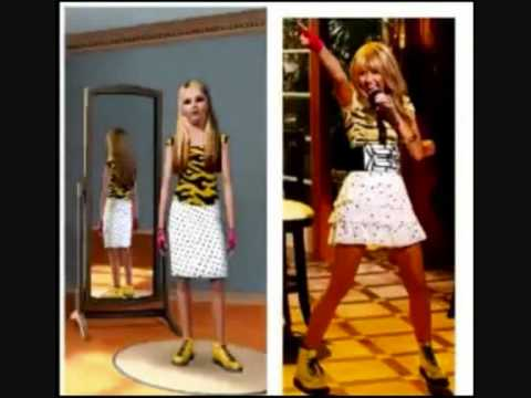 hannah montana outfits sims 3 youtube