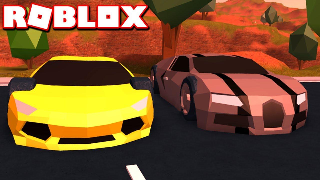Old Lamborghini Vs New Bugatti In Roblox Jailbreak Youtube