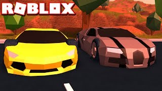 OLD LAMBORGHINI VS NEW BUGATTI IN ROBLOX JAILBREAK