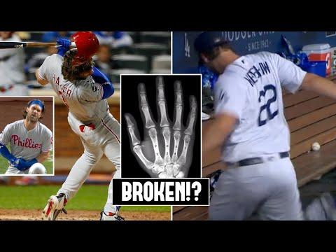 Bryce Harper BREAKS Hand!? Clayton Kershaw Kicks Cooler In Dugout Rage (MLB Recap)