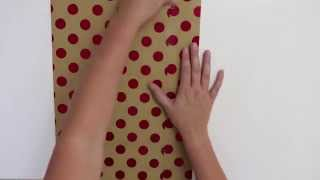 How to make gift bags from wrapping paper!