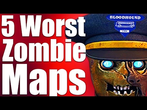 TOP 5 WORST ZOMBIES MAPS EVER (Black Ops 3 Zombies, Bo2, Bo1 & WaW ...