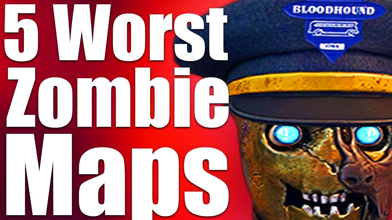 TOP 5 WORST ZOMBIES MAPS EVER (Black Ops 3 Zombies, Bo2, Bo1 & WaW)