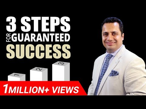 3 Steps for Guaranteed Secret of Success Motivational Video in Hindi by Mr Vivek Bindra