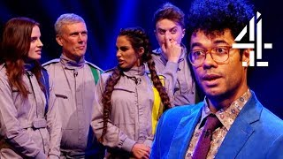 Richard Ayoade's Legitimately Stunned Celebs Only Caught 2 Tokens | Crystal Maze Celebrity Special