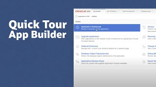 Quick Tour of App Builder in Oracle Application Express video thumbnail