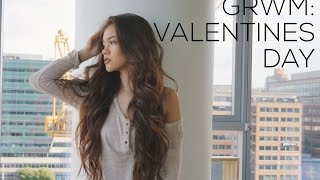 GRWM: Valentines Day Makeup, Hair, and Outfit Ideas