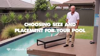 Gambar cover Swimming Pool placement and size