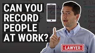CA Recording Law Explained by an Employment Lawyer