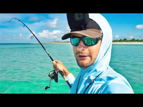 Fishing A Massive School Of Big Fish Along The Beach + Surprise Tarpon
