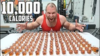 150 Shots of Maple Syrup Challenge! (10,000 Calories)