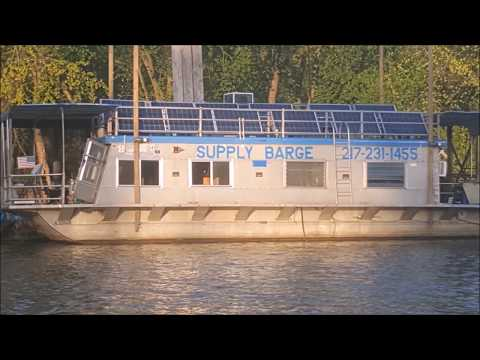 Solar Off Grid Auto-Tracking 1.2kw Houseboat DIY Quincy ILLinois