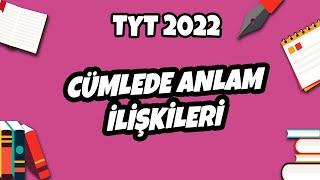 Cümlede Anlam İlişkileri  TYT Türkçe 2021 hedefekoş