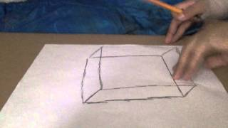 how to draw 3D square, rectangle!