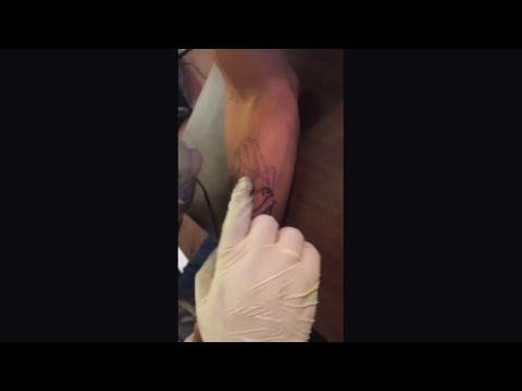 bae getting first tattoo