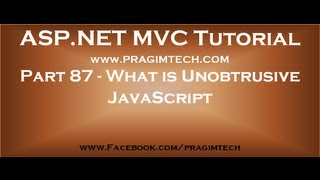 Part 87   What is Unobtrusive JavaScript