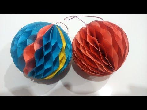 Как сделать елочные игрушки из бумаги своими руками