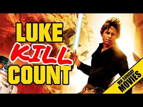 LUKE SKYWALKER Movie Kill Count Supercut