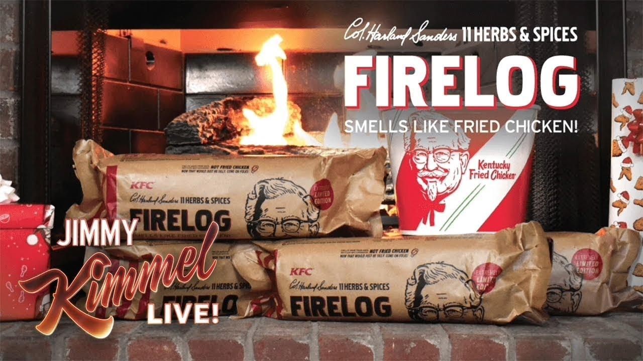 OMG You Can Buy a Fried Chicken Firelog