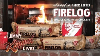 OMG You Can Buy a Fried Chicken Firelog