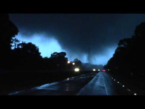 Tornado Forming - Touchdown in Edgewater Florida on December 10th, 2012