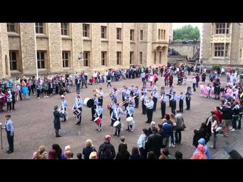 L&SER ACO Marching Band theme from 'Magnificent Men' at The Tower of London