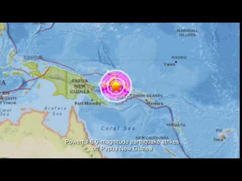 Powerful 6.0 magnitude earthquake strikes off Papua New Guinea