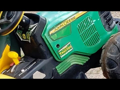 Toddler Drives To County Fair On Toy Tractor