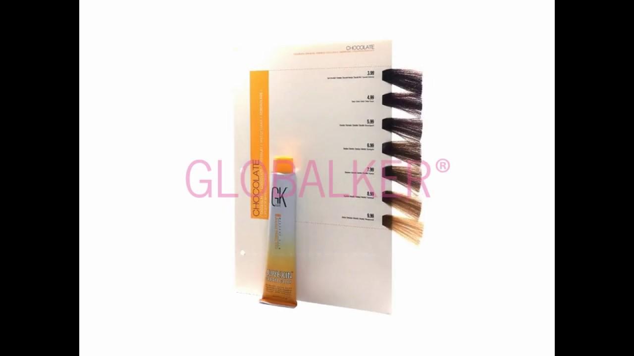 Zupełnie nowe GKhair chocolate Cream Color palette paleta kolorów Global Keratin RX17