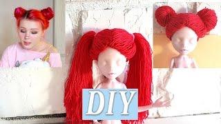 Кукла Анастасия Шпагина ООАК Как сделать парик для куклы Монстер Хай из ниток Diy для кукол