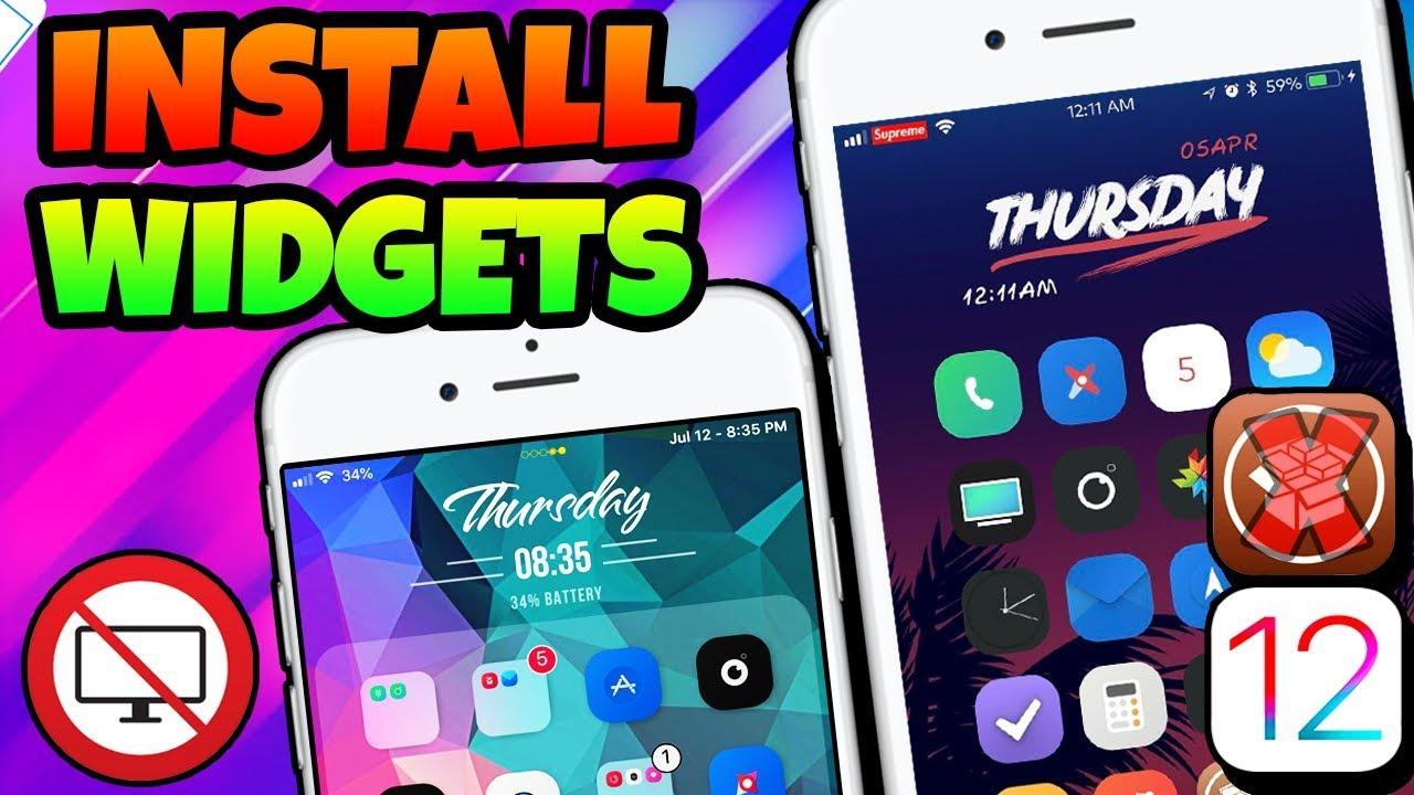 NEW How To GET Widgets iOS 12 -12 1 2   Install XenHtml NO Computer iOS 12  iPhone iPad iPod [2019]