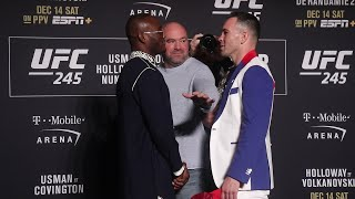 Kamaru Usman v. Colby Covington Face Off | UFC 245 Media Day