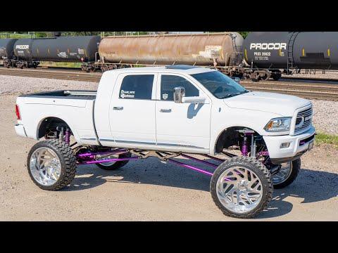 "Dodge Ram 2500 Limited Lifted On A Purple 20"" Plan B Fab Lift on 30x16 AF Wheels! #PURPLEforLUPUS"