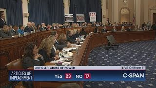 House Judiciary Committee APPROVES Articles of Impeachment