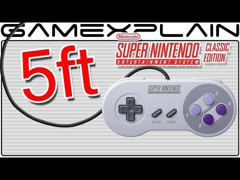SNES Classic's Controller Cord is 5 Feet Long (2 Feet Longer Than NES Classic!)