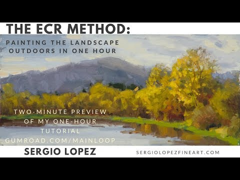 [PREVIEW] Painting The Landscape Outdoors In One Hour In Oils
